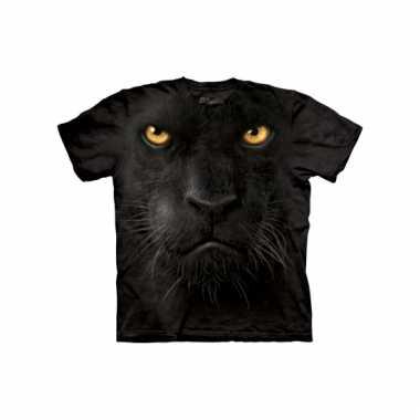 Kids dieren shirts zwarte panter