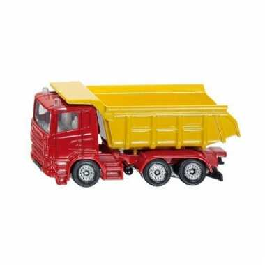 Kiepwagen speelgoed auto rood en geel 1075 siku