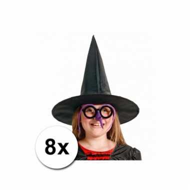 Kinder heksen hoeden 8 st