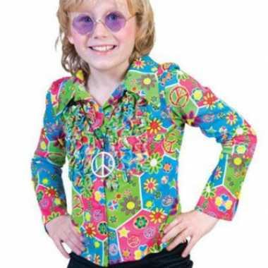Kinder hippie shirt met bloemen