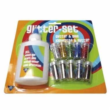 Kinder knutselset met glitters en lijm