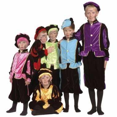 Kinder kostuum zwarte piet blauw