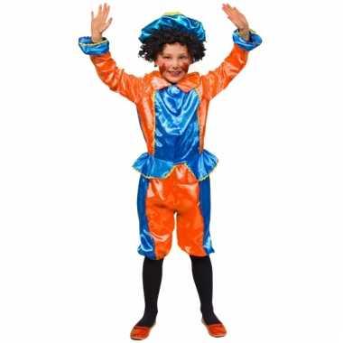 Kinder pietenpakken oranje met blauw