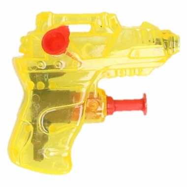 Kinder speelgoed mini waterpistool geel