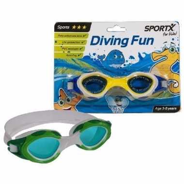 Kinder sport zwembril geel 3-8 jaar