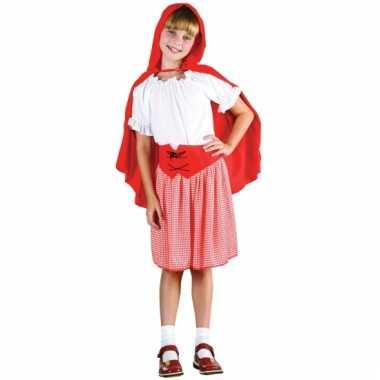 Kinder verkleedkleding roodkapje