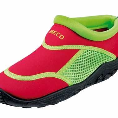 Kinder waterschoen rood groen