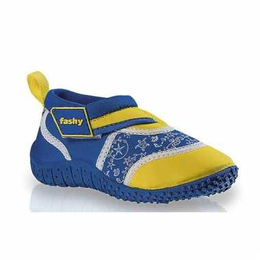 Kinder waterschoenen blauw/geel