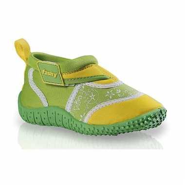Kinder waterschoenen groen/geel
