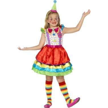 Kinderkostuum kleurrijk clowns jurkje
