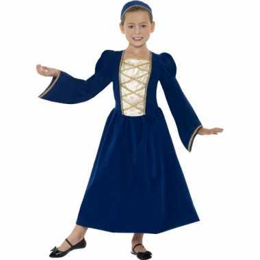 Kinderkostuum middeleeuwse prinses jurk