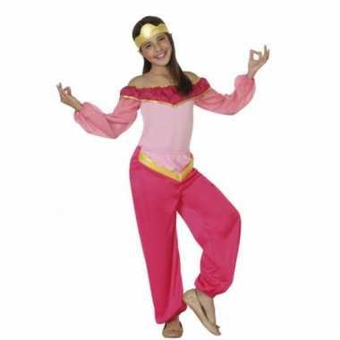 Kinderkostuum roze arabische prinses