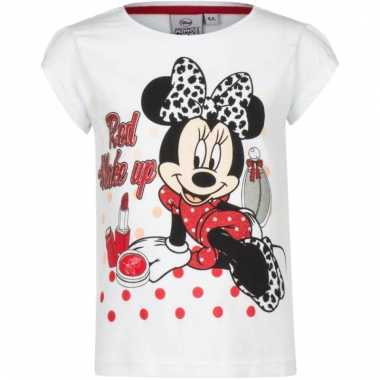 Kindershirt minnie mouse wit