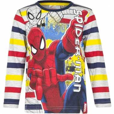 Kindershirt spiderman gestreept