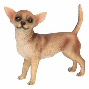Kleine beeldje chihuahua bruin 10 cm