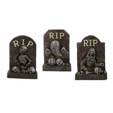 Kleine grafsteen rip van steen
