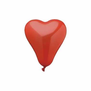 Kleine hartjes ballonnen 50 stuks