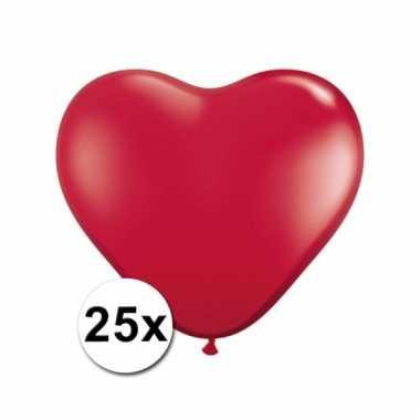 Kleine rode hartjes ballonnen 25 stuks