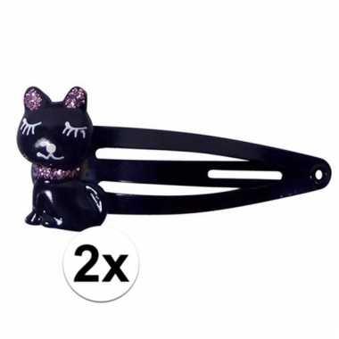 Klikklak speldjes zwart katje/poesje