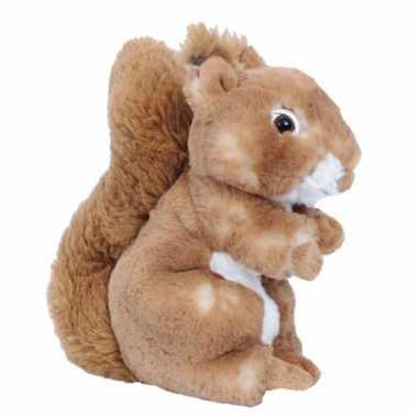 Knuffel eekhoorns bruin 20 cm