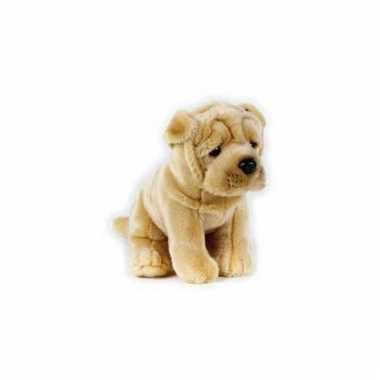 Knuffel hond sharpei 20 cm