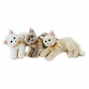 Knuffel kat beige