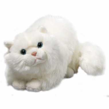 Knuffel liggende perzische kat 30 cm