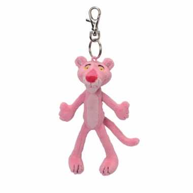 Knuffel pink panther aan sleutelhanger