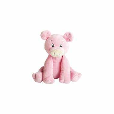 Knuffel varken roze 15 cm