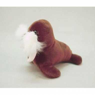 Knuffel walrus 14 cm