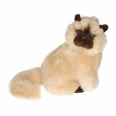 Knuffel zittende perzische colourpoint kat 30 cm