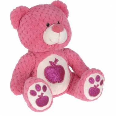 Knuffeldier roze beertje 25 cm