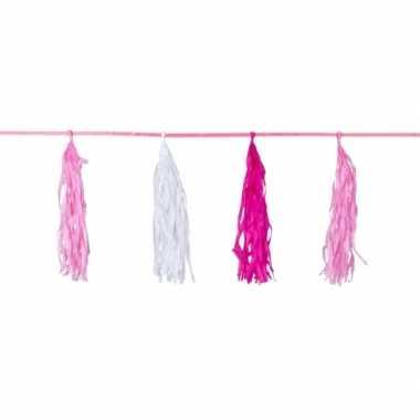 Kwastenslinger roze 3 meter