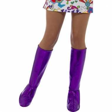 Laarshoezen paars voor dames