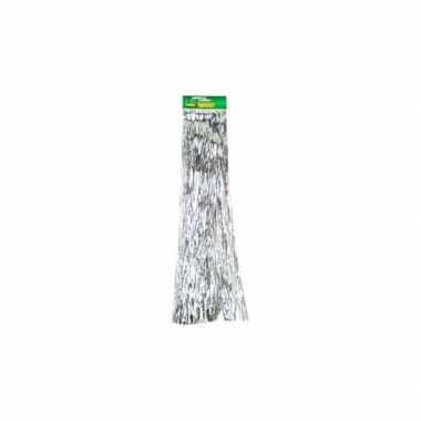 Lametta zilver glitter slinger 50 cm