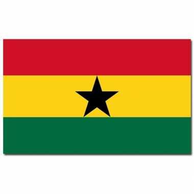 Landen vlag ghana 90 x 150 cm