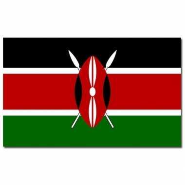 Landen vlag kenia 90 x 150 cm