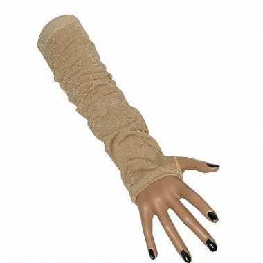Lange handschoenen fluweel look