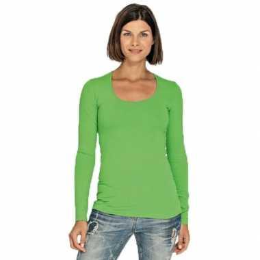 Lange mouwen lime dames shirt