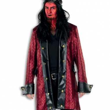 Lange rode verkleed jas voor heren rood