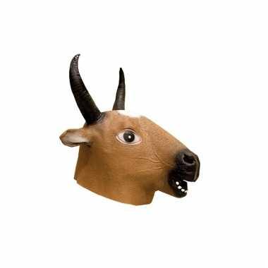 Latex dieren masker van een herten