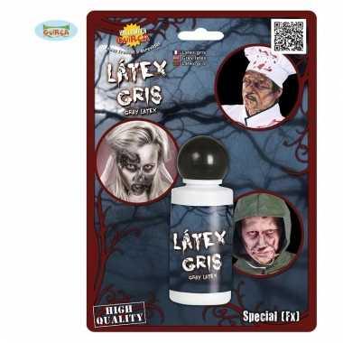 Latex look horror schmink grijs