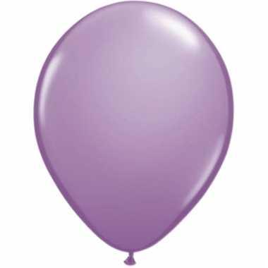 Lavendel kleurige ballonnen 50 stuks