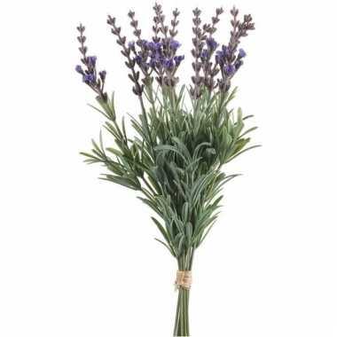 Lavendel kunstbloemen bundel 33 cm