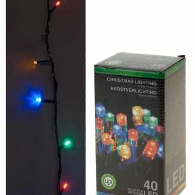 Led lichtsnoer gekleurd 40 lampjes