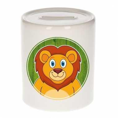 Leeuwen spaarpot van keramiek 9 cm