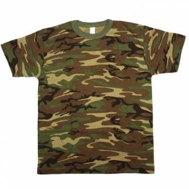 Legerprint t-shirt korte mouw