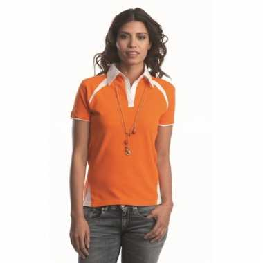 Lemon and soda dames poloshirt oranje