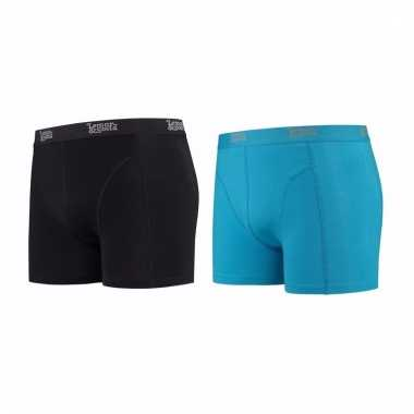 Lemon and soda mannen boxers 1x zwart 1x blauw m
