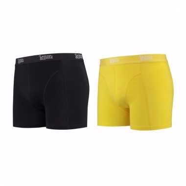 Lemon and soda mannen boxers 1x zwart 1x geel m